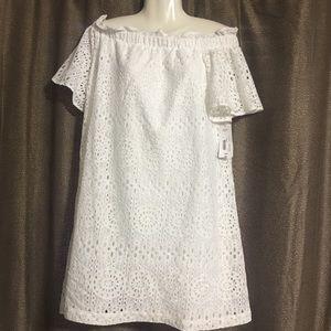 NWT Ana cold should size 8 white dress